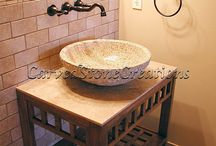 Bathrooms / Make your bathroom a relaxing spa-like oasis with these bathroom design ideas.  / by Carved Stone Creations