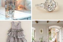 Silver/white / by Chantal S