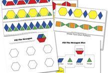 Homeschool - Pattern Blocks / homeschool resource - pattern blocks & printables / by Jessica Morris