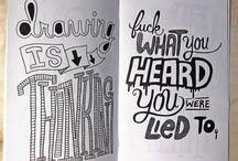 pretty letters & words / by Rachel Jones