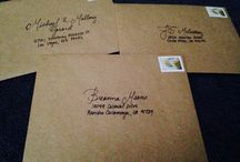 Wedding envelopes / Clean, classic, hand written and recycled wedding envelopes. So proud of these babies! Thank you Janet for helping me make these, you're the bestest bridesmaid a girl could ever ask for! <3  / by Jessica Gerard