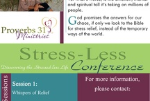 Stress Less Conference  / Promotional flyers, posters and postcards which can be printed to use at your church's Stress Less Conference. / by Tracie Miles