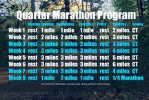 Running / Quarter marathon training / by Sarah Howell