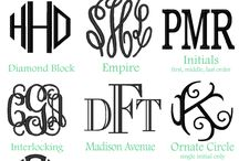 appliqes-MONOGRAMS-CRICUT / by Megan Carter