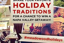 #MeadowoodHolidays / Win a getaway to Meadowood Napa Valley and 2014 The Twelve Days of Christmas! Share your holiday photos with us on Instagram and use #meadowoodholidays. bit.ly/1c91QVG / by Meadowood Napa Valley Official