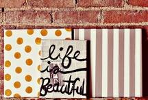 DIY: Wall Art Ideas. / by Karla Rodriguez
