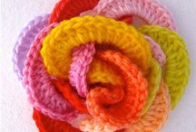 CREATIVE: Crochet- Motifs & Embellishments / Crocheted flowers, granny squares, shapes, etc. / by Blue Velvet Moon Weddings & Events