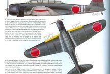 WWII Japanese aircraft / 第二次世界大戦 / Un gran imperio / by Arthur Roderik
