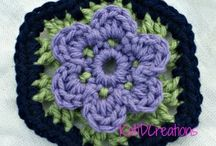 Crochet Squares, Hexagons, Pentagons / by Charmed By Ewe