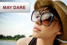 We Dare You: May Dare / This May #WeDareYou to share a photo of how you're protecting your eyes by wearing sunglasses. Enter for a chance to win a $400 gift card! http://wedareyoutoshare.com / by Source4Women