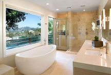 Sexy Master Bathrooms / Check out some of the most luxurious, pampering master bath suites from Direct from the Designers, as well as some personal favorites from our colleagues. / by DFD House Plans