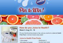 Juice to Health / Healthy juice drinks using Sunkist / by Jo-Ann Brightman