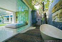 Bathrooms & Outdoor Showers / Outdoor shower & bathroom ideas / mood board / by Sandra Tinari