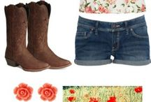 cowgirl outfits / by abigail ramirez