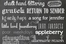 Fonts / by A Lemon Squeezy Home