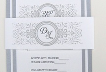 Wedding Invite Ideas : J&M / Wedding Invite ideas and inspiration.  Silver and white theme.  / by Kendall Hunt