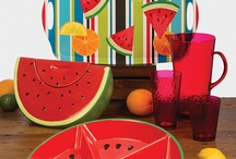 Patio & Picnic time by LANG / In the beautiful spring and summer months dine and decorate outdoors! We have lovely melamine collections featuring artwork by our world renowned artists.  / by LANG