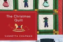 The Christmas Quilt by Vannetta Chapman / Annie's life is deliciously full as the Christmas season approaches. She helps her husband attend to the community's minor medical needs. She occasionally assists Belinda, the local midwife. And most days, she finds herself taking the buggy to her brother Adam's home. Leah is due to deliver their first child before Christmas morning, and Annie is determined to finish a crib quilt before it arrives.   But God's plans are different from Annie's and the quilt may have far greater significance. / by Quilts of Love Fiction