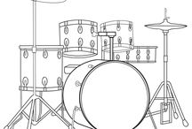 Music Coloring Pages / by Riff Spot
