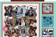 Mesh Stencil / This Board shows different Photo Collage layouts all using the Mesh Stencil as the design template. / by Lea France Scrapbooking (Photo Collage)