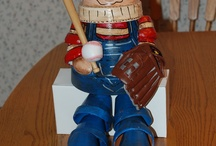 Clay Pots / Baseball guys made out of clay pots. / by Karen Driscoll