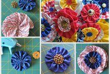 Fabric Flowers, etc. / by Susan Kaminski-Saracino