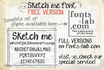 Fonts / Textures  / by TIN10 //