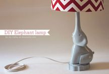 Pink, gray, elephant nursery / by Jessica Hartley Sodeke
