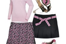 Pink & Black Golf  / This may be my favorite color combo. Pink is soft and feminine and black is strong and confident. Perfect fashion yin and yang! / by Golf4Her