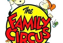Family Circus Comics / William Aloysius Keane (October 5, 1922 – November 8, 2011), better known as Bil Keane, was an American cartoonist most notable for his work on the long-running newspaper comic The Family Circus. It began in 1960 and continues in syndication, drawn by his son Jeff Keane. / by Cathy Y.