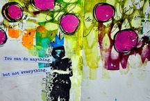 Art Journal Pages/Mixed Media / by Micki Harper