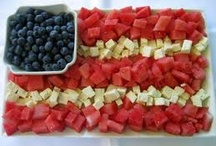 Red White and Blue / Patriotic Ideas for Cookout / by Carol Ann Kaplan
