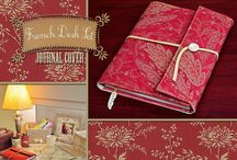 Fabric Book Covers / Free tutorials for fabric notebook covers / by Linda Matthews