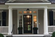 EXOVATIONS Porticos / Many of our customers have completely changed the curb appeal of their home by simply adding a portico or front porch to their existing front entry. http://www.exovations.com/porches.html / by EXOVATIONS