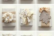 winter gift wrap ideas / by Donna Alverson
