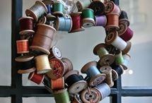 Wooden Spool Displays / by Denise Garceau