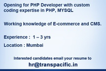 Jobs @ TPS / TransPacific Software provides enormous growth opportunity to developers to work on latest and every advancing technologies including html5, responsive sites, ecommerce 3.0, Google App Engines, third Part API, latest php frameworks, Amazon AWS, Magento, WordPress and OpenCart. / by E-commerce Experts Consulting and Development