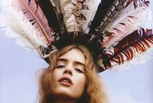 Headdress / Feathers in your hair, on a hat etc. Inspiration / by Gypsy☮Lolita♥