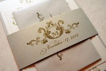 Ivory and Champagne Wedding / by Whimsy B. Designs