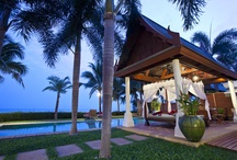 Villa Acacia / Offering four bedrooms, Villa Acacia is designed around a central tropical garden area. At the rear of the garden is a pavilion with two twin bedrooms, each with a stylishly bathroom, while next to them is a well-equipped private gym.   / by Miskawaan Villas