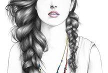 Girly Art B&W / by May May