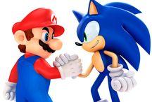 (/ˆ˛ˆ)/\(ˆ,ˆ\) Sega vs Nintendo (/ˆ˛ˆ)/\(ˆ,ˆ\) / Mario vs Sonic / by φ(・ω・♣)☆・゚:* Cherri φ(・ω・♣)☆・゚:*