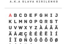 Fonts / by ferrie = differentieel