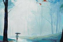 {Love} Watercolors and paint / by Katrina {Katrina Dawn Interiors}