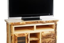 Aspen Furniture / These log furniture pieces are made of aspen, hand crafted by Mountain Woods Furniture. / by Mountain Woods Furniture Manufacturing LLC