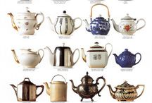 Teapots/coffeepots/cups/pitchers / Serving pieces for liquids / by Carla Wilson
