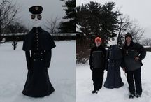"""Army-Navy Snowman Contest / With snow, comes snowman(y) possibilities and Army-Navy fans showed off their pride with some great snowmen! The winners, decided by Facebook and Instagram """"likes"""" and """"shares,"""" were Cathy Kilner and Jake Grube. / by Army Navy Game"""