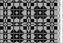 4 shaft weaving drafts / by Trish Ashton