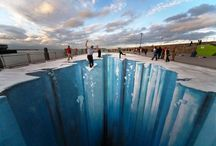 Sidewalk Art Illusions / The illusions created by these artists are amazing. / by Blanche Hayden