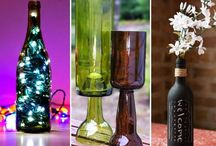 Glass Makeovers / What can YOU do with recycled glass? / by Amanda Lutz